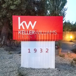 Monument Sign Design for Keller Williams Realty
