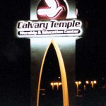 Church Marquee Pole Sign – Calvary Temple